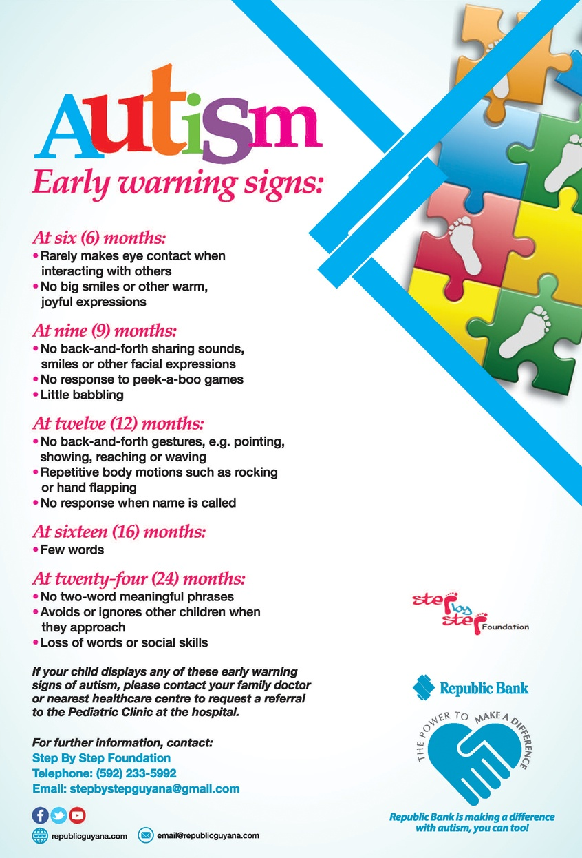 autism early warning signs